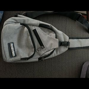 Crossbody small backpack.